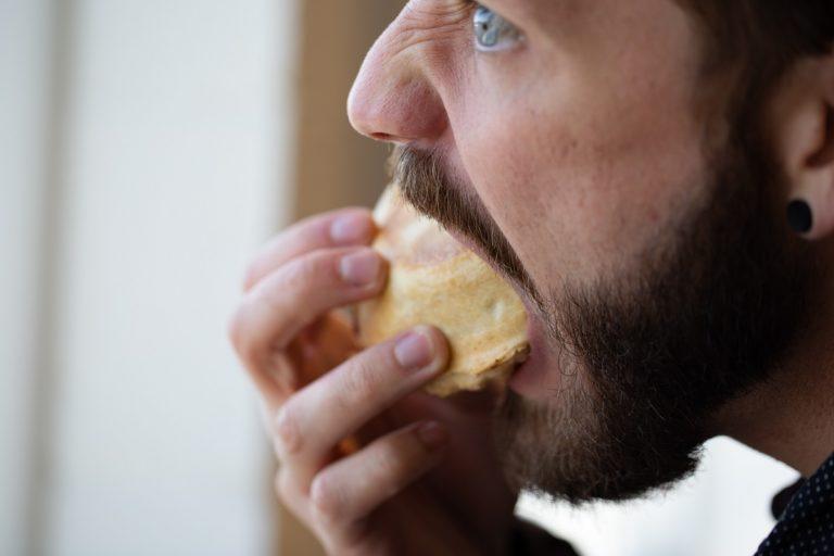 guy eating food