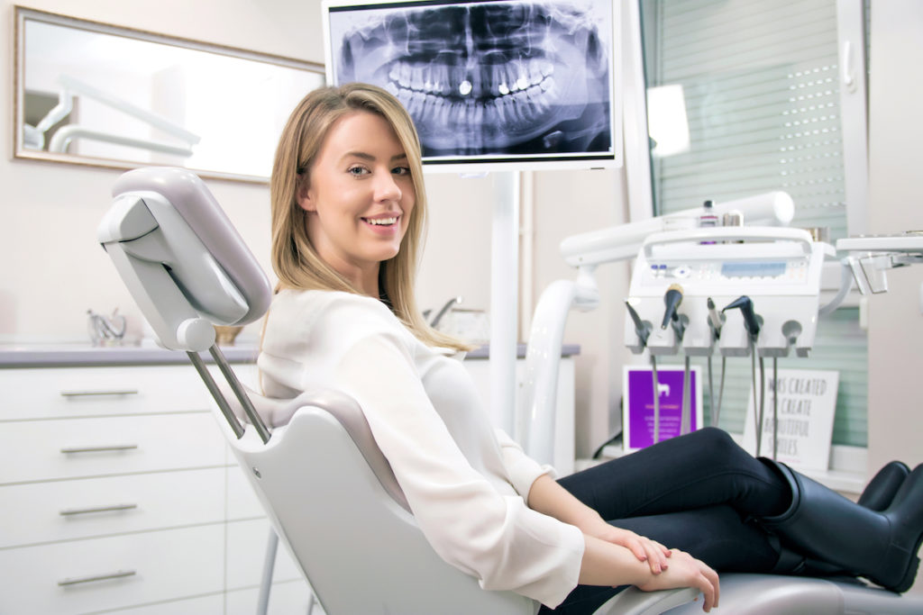 woman on the dental chair