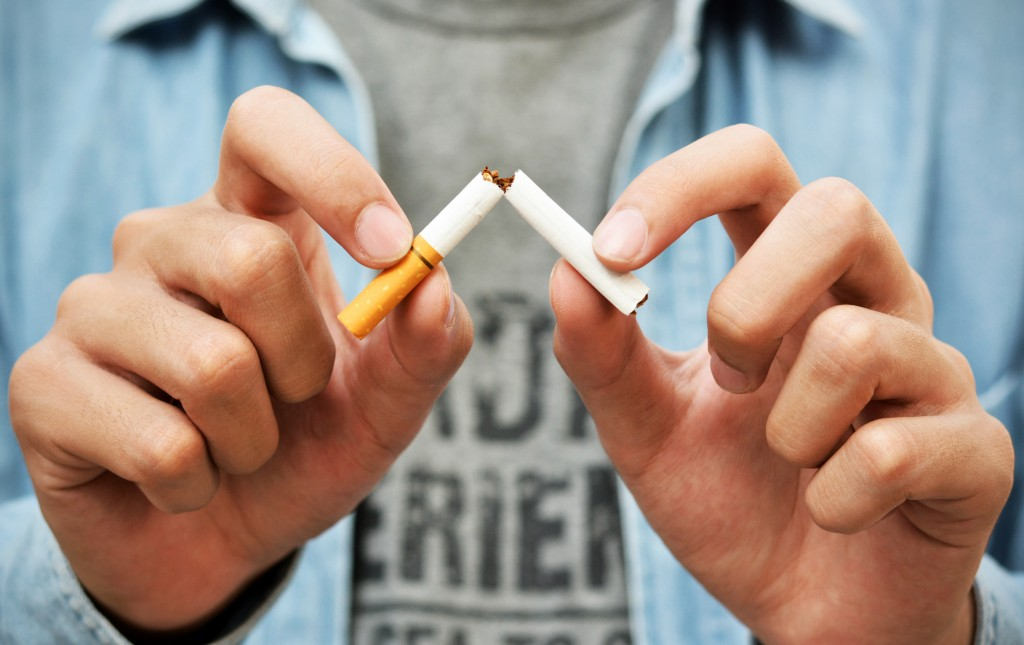 cutting down cigarette